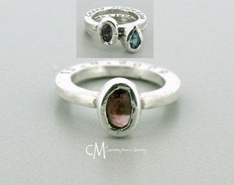 Mothers Day Birthstone Jewelry - Birthstone Ring - Mothers Day Ring - Mothers Day Birthstone Ring - 7x5mm oval Birthstone Ring