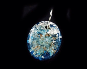 Orgonite Pendant. Orgone Generator. Arkansas Crystals, Phenacite, Selenite,  Petalite, Elite Shungite, Tourmaline, Rhodizite (h36)