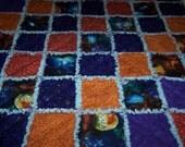 Outer Space Rag Quilt - Space Rag Quilt - Boy Rag Quilt - Space Lap Quilt - Space Cuddle Quilt - Small Rag Quilt - Modern Rag quilt