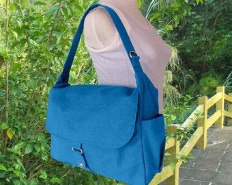 Summer Sale 10% off blue diaper bag, messenger bag, crossbody bag, shoulder bag, tote bag for girls