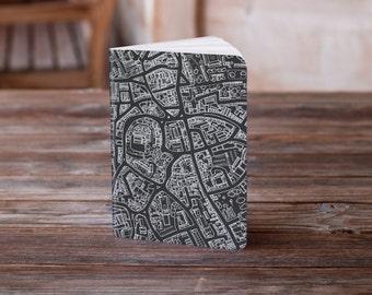 A6 Black map Notebook