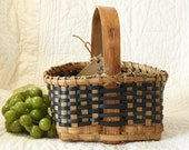 Country Granny Basket w/ solid oak handle