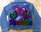 Custom Airbrushed Jean Jacket