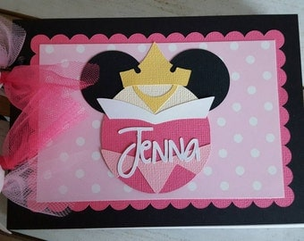 Personalized Disney Autograph Book Inspired by Sleeping Beauty