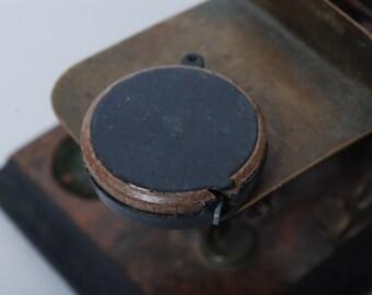 Vintage miniature tape measure, ruler, measuring tool, pendant 1 meters