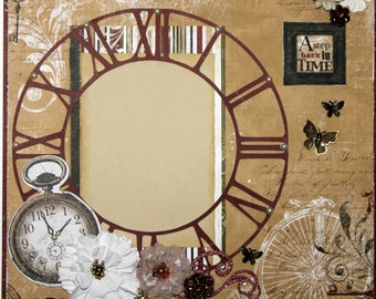 Premade Scrapbook Page 12 x 12 -Back in Time