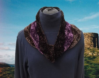 Chocolate Raspberry Truffle Wave Cowl