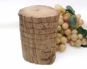 Wood Coaster Set Cypress Wooden Drink Coasters Log Slices Cajun Decor (#1)