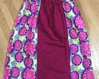 Girls Dress, Girls Pink, Yellow, Purple Dress - Sample Sale