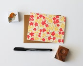 boxed note cards stationery - greeting cards & envelopes - thank you cards - floral stationery set of 8 (A2) size