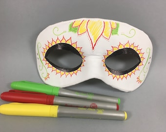 "DIY ""Design Your Own"" Masquerade Mask, Unisex"