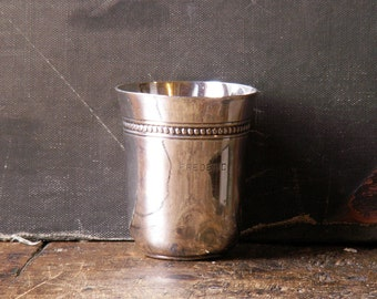 Vintage Silver Christofle Baby Cup - Engraved Frederic - French Flea Market Decor