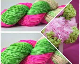 Hand Dyed Sock Yarn, Hand Dyed, Merino, Cashmere