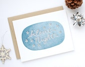 Holiday Card - Letterpress Christmas Card - Silent Night