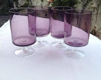 Mod Purple Glass Set
