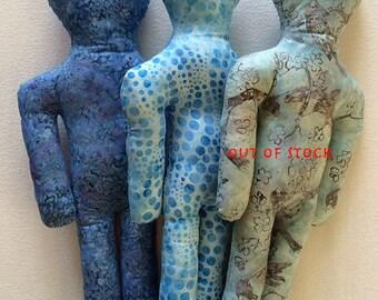 Reiki Distance Healing Doll - Blue Batik