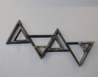Steel Triangle Metal Wall Hanging Art