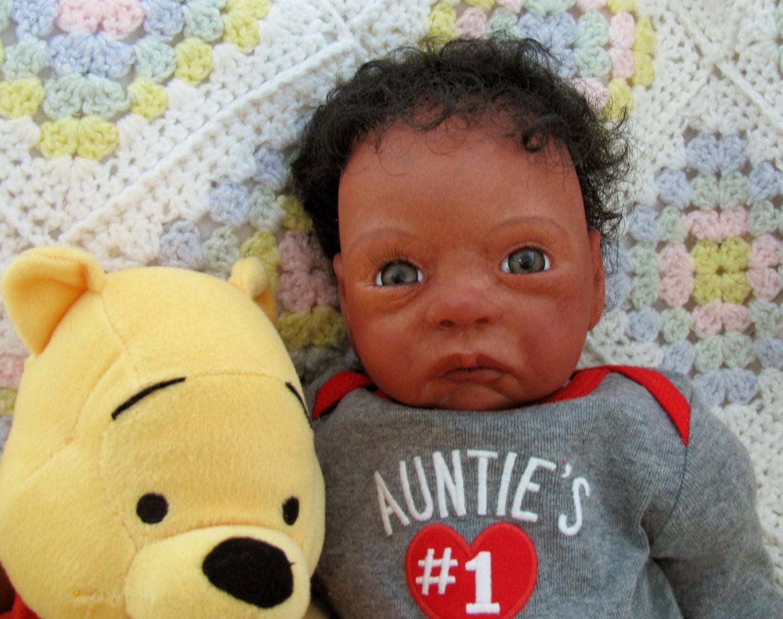 Reborn Realistic Lifelike Ethnic Newborn Aa Biracial Black