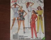 Sewing Pattern - Size 8-10-12 Misses' Jumpsuit - McCall's 2481 Vintage Uncut Pattern