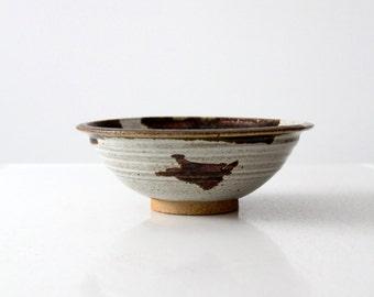 vintage Len Stach studio pottery bowl