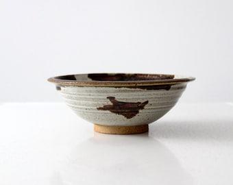 FREE SHIP  vintage Len Stach studio pottery bowl