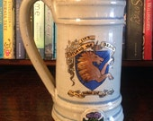 """Scotland the Brave """"The hills of the Highlands forever I love"""" Robert Burns Quote - Massive, ceramic tankard with unicorn crest"""
