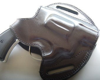 Smith & Wesson 38 Special Snub Nose Handcrafted Leather Belt Holster