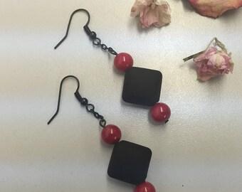 CA Square Dangle Earrings