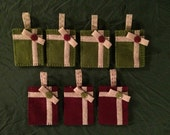 7 Felt Gift Card Holder Ornaments