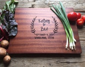 Personalized Cutting Board, Personalized Wedding Gift, Housewarming Gift, Anniversary Gift - Custom Engraved