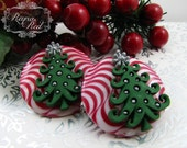 O Christmas Tree Barrettes, hair clips, xmas, holiday, gift for girls, little girls hairclips, Winter, petite barrettes - reynared
