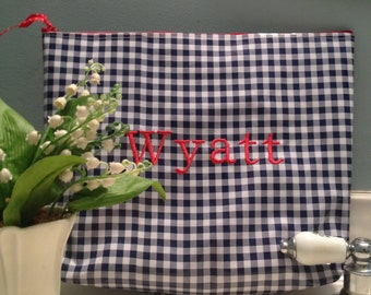 Large Cosmetic Bag/ Wet Bag/ Laundry Bag/ Waterproof Bag/ Gym Bag/ Workout Bag/ Oilcloth Bag/ Red Cosmetic Bag/ Toile Bag/ Monogrammed Bag