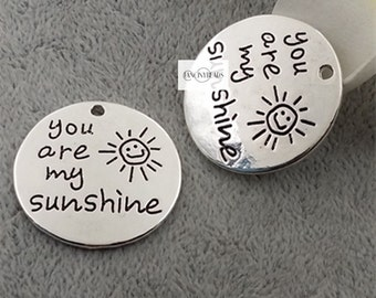 You are my sunshine-Wording charms 15pcs -T0772