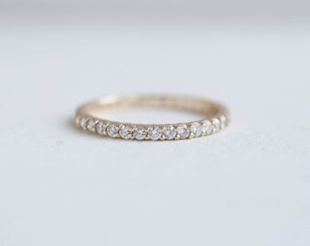 Pavé Diamond Eternity Band | 14k Recycled Gold