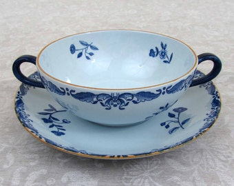 Cream Soup Bowl & under Saucer Rorstrand Ostindia East Indies - Sweden - REDUCED