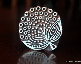 Pottery Stamps, Indian Wood Stamp, Textile Stamp, Wood Blocks, Tjaps, Printing Stamp- Stylized Round Flower