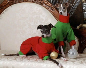 Your Choice -Two Colour Italian Greyhound Jammies - Pick your own combinations of body, cuffs and collar IMPORTANT - see item details