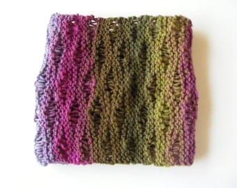 Open weave rainbow cowl