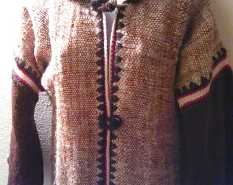 Nelly Alarcon Long Wool Hooded Cardigan Sweater Coat