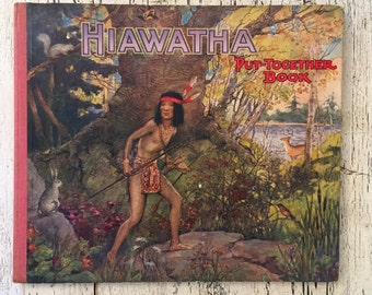 Vintage Put Together Book - Hiawatha - 1930's Children's Activity Book