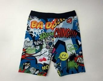 Comic Print Girls Comfort Shorts