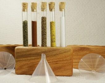 Test Tube Spice Rack, Spice Rack, Wooden Spice Rack, Kitchen Storage, Wedding Gift Spice Rack, Kitchen Spice Storage, Oak Spice Rack