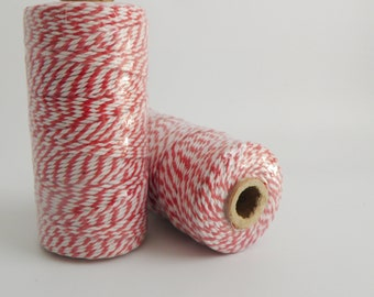 RED- Thick Bakers Twine (12 ply)- 100 yd spool- Packaging, Gift Wrap, Baking Parties