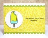 All Occasion Card, Ice Cream Card, Handmade Cards, Love you more than ice cream