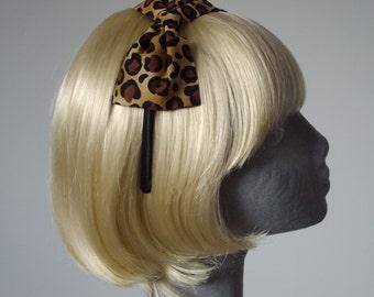 Leopard Print Headband, Leopard Print Bow Headband, Leopard Print Bow Aliceband, Leopard Print Hair Bow, Leopard Print Hair Accessory