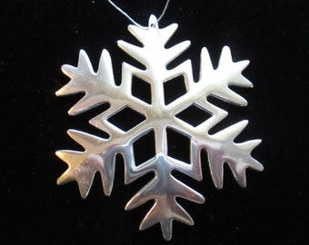 Vintage Silver Plate  Christmas Snowflake Ornament Christmas Tree Holiday Decorations YourFineHouse ShipsWorldwide