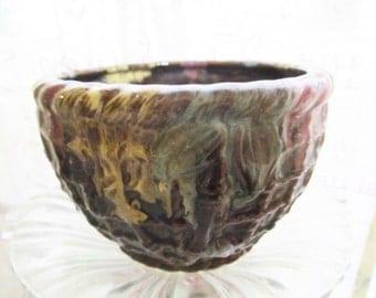 Vintage Flower Pot, Japan Pottery Red Ware, Flower Pot, Japan Flower Pot,  Bamboo Rope Design