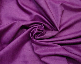 "Vintage Fabric Silk Shantung c.1960's Plum 3 2/3 Yards 45"" Wide Stunning!"