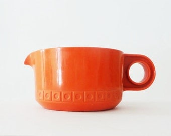 Vintage Burnt Orange Retro Tupperware Measuring Cup