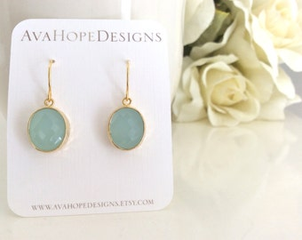 Light Blue Wedding, Blue Earrings, Gold Earrings, Bridesmaid Earrings, Bridesmaid Gifts, Best Friend Gifts Christmas Gifts Girlfriend Gift